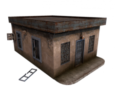 Gas Station Store 3D Model