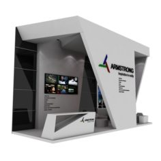 Armstrong Exhibition booth 3D Model