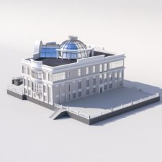 The building of the marriage in the city 3D Model