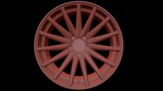 Vossen VFS2 Wheel Low Poly 3D Model