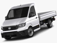 VW Crafter 2017 single cab pickup 3D Model