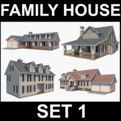 Family House Set1 3D Model