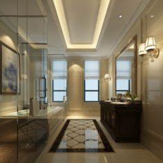 Bathroom design complete model 136 3D Model