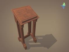 Gothic Lectern 3D Model