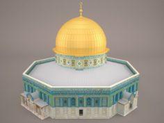 Dome of the Rock Jerusalem 3D Model