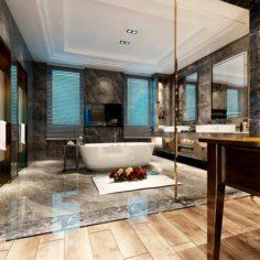 Bathroom design complete model 41 3D Model