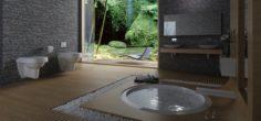 Bathroom design complete model 121 3D Model