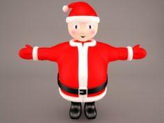 Santa Claus Cartoon 3D Model