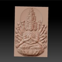 kwan-yin bodhisattva with thousands of heads and hands 3D Print Model