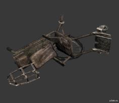 Wheelchair (Broken) 3D Model