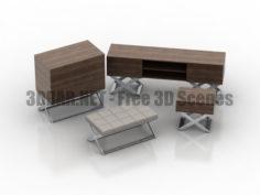 ZEGEN DeLux commode nightstand stool 3D Collection