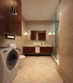 Family fashion sanitary bath toilet 1808 3D Model