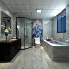 Bathroom design complete model 180 3D Model