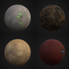Stylized Planets 03 3D Model