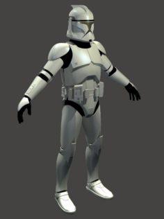 3d Printable Clone Armour 3D Model