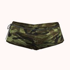 Sexy Green Army Shorts 3D Model