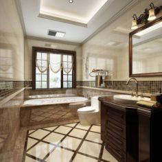 Bathroom design complete model 160 3D Model