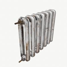 Rust Cast Iron Radiator 3D Model