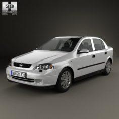 Opel Astra G liftback 1998 3D Model