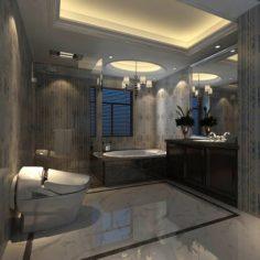 Bathroom design complete model 169 3D Model