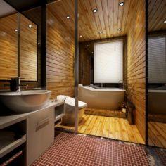Family style bathroom toilet 1819 3D Model