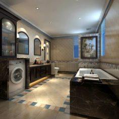 Bathroom design complete model 175 3D Model