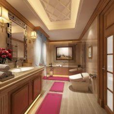 Bathroom design complete model 161 3D Model