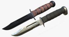 KA BAR USMC KNIFE PACK 3D Model