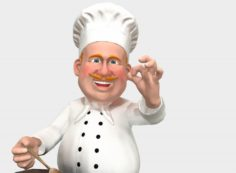 Chef caricature 3D Model