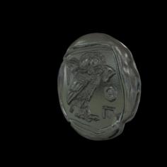 Athena coin 3D Model