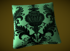 Silk pillow for a bed or a sofa – Baroque stile Free 3D Model
