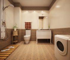 Family style sanitary bath toilet 1821 3D Model