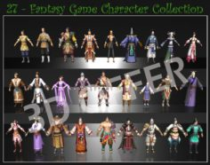 27 Game Character Collection 3D Model