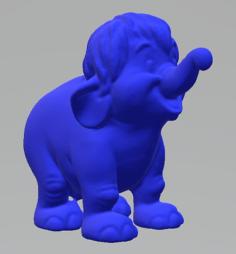 Mowgli elephant stl 3D Model