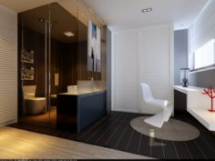 Family fashion bathroom bathroom 1809 3D Model