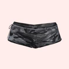 Sexy Gray Army Shorts 3D Model