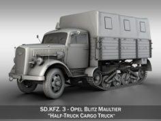 Opel Blitz Maultier – Half-Truck Cargo truck 3D Model