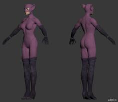 Catwoman Halloween 3D Model
