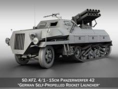 SDKFZ 4 – Panzerwerfer 42 3D Model