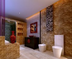 The family fashion bath toilet 1802 3D Model