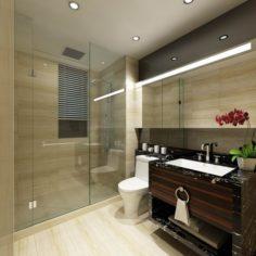 Bathroom design complete model 156 3D Model