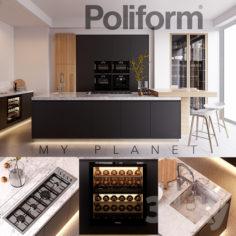 Kitchen Poliform Varenna My Planet 4 (vray GGX, corona PBR)                                      3D Model