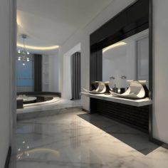 Bathroom design complete model 168 3D Model