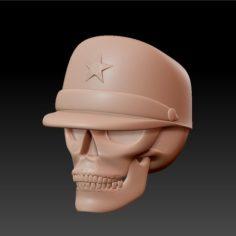 skull with cap 3D Print Model