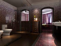 Family fashion sanitary toilet 1805 3D Model