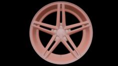 Vossen CV5 Wheel Low Poly 3D Model