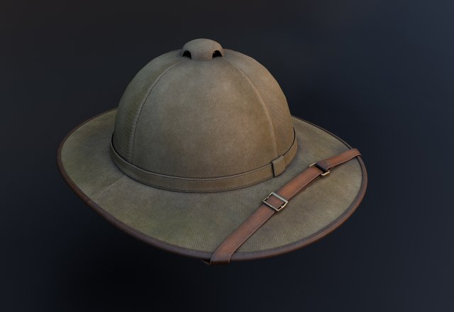 The Old Hat Of A Traveler Archaeologist 3D Model