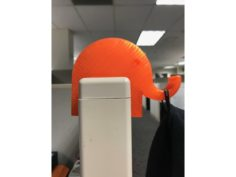 Elephant Cubicle Hook 3D Print Model