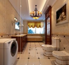 Family fashion bathroom bathroom 1803 3D Model