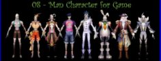 8-Man Character For Game A 3D Model